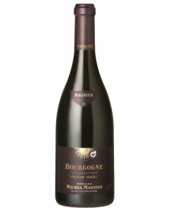 Bottle red wine Domaine Michel Magnien Bourgogne Pinot Noir 2015
